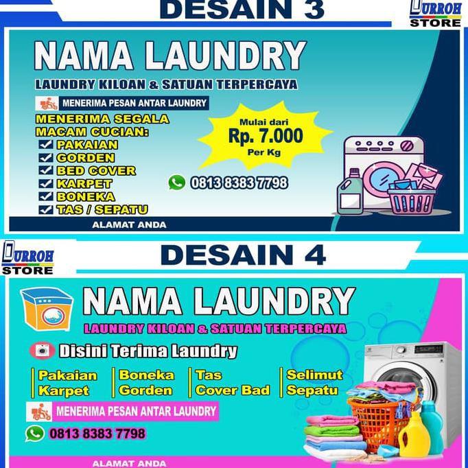 Desain Spanduk Laundry Keren Terbaru - gambar spanduk