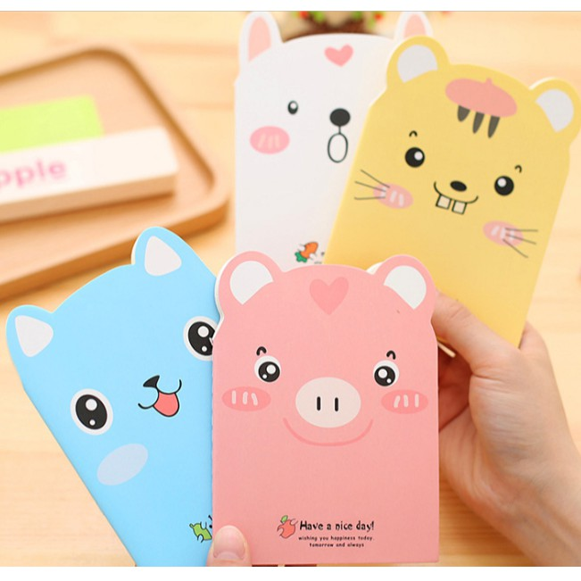 Notebook Mini Hewan Polos Notes Mini Hewan Lucu Imut Buku Mini Karakter Kartun Animal Portabel Shopee Indonesia