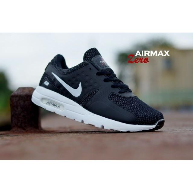 the latest 4a939 e44bc Sepatu Nike Airmax Zero Black White
