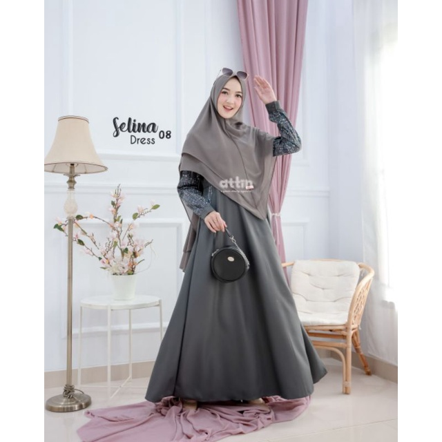 Gamis Selina Dress By Attin/Gamis Syari Bahan Toyobo