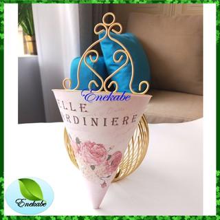 vas gantung segitiga vas bunga cantik dekorasi hiasan