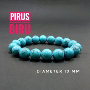 Jual Gelang batu pirus biru diameter 10 mm lebih besar Limited | Shopee Indonesia