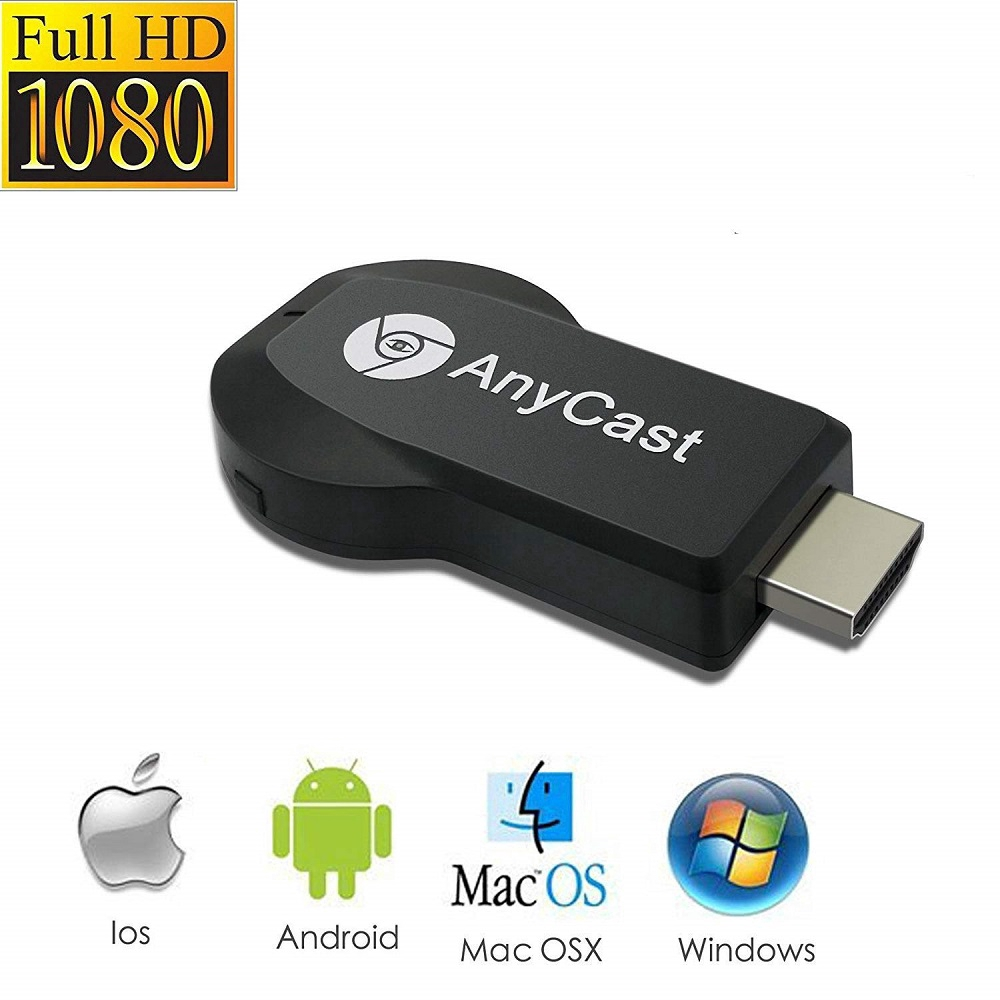 US AnyCast M4//M9 Plus DLNA Airplay 1080P HDMI Wifi Display Receiver Dongle TV