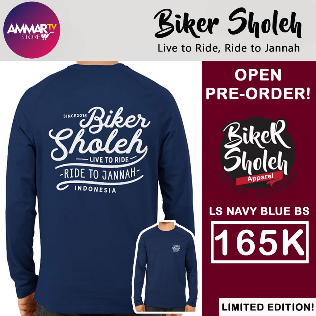 Ls Navy Blue Bs Shopee Indonesia Eiger Riding Ride Classic Ol T Shirt Kaos Pria S