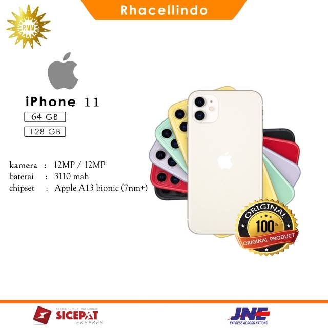 Iphone 11 64GB /128 GB dua sim ori 100% like new internasional