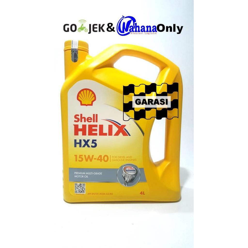 Oli Mesin Shell Helix Hx5 15w 40 4l Shopee Indonesia Api Sn Mobil Bensin 4 Liter