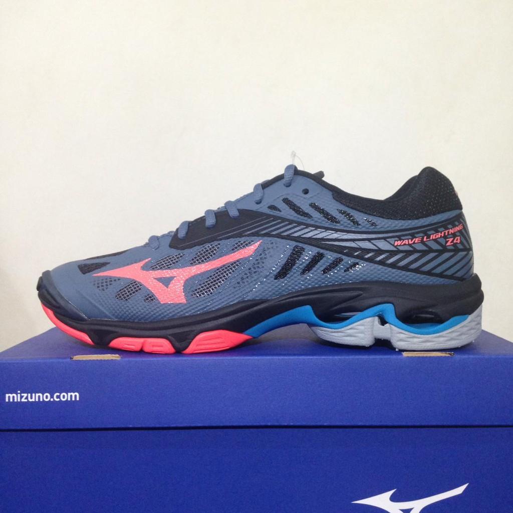 Sepatu Volley Mizuno Wave Lightning Z4 Black Blue V1GA180024 Original BNIB   cf260d03ee