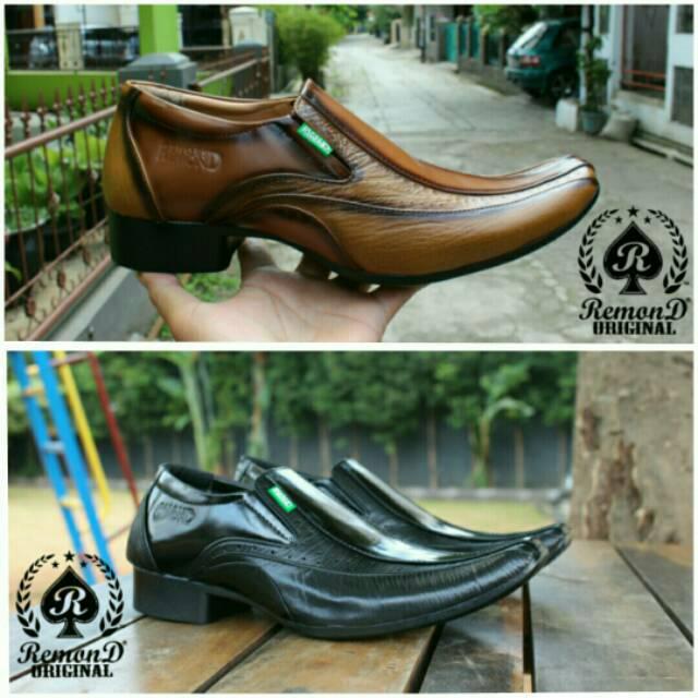 Sepatu pantofel pria kulit asli Rasheda K 02 Big Size  1e5d754dfb