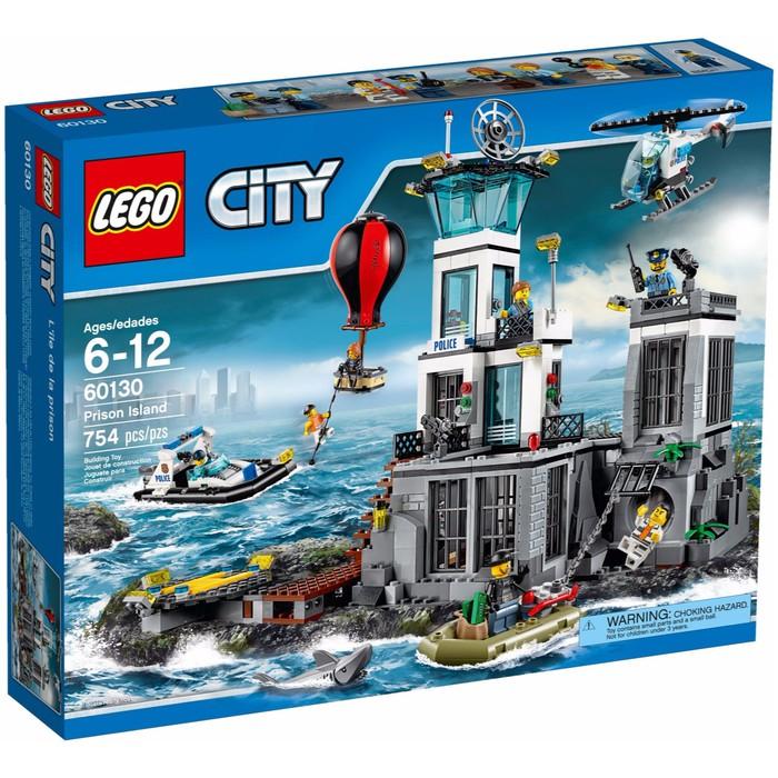 100 Original Lego City 60130 Prison Island Chief Police Pilot Boat Helicopter Shopee Indonesia
