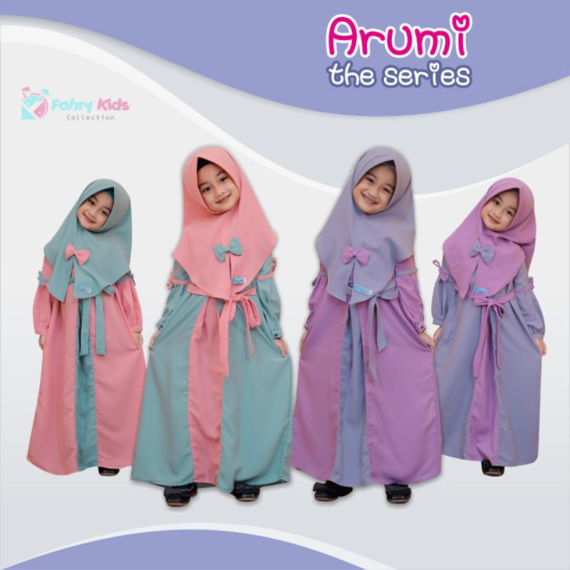 arumi the series ori by fahri kids/ gamis set anak