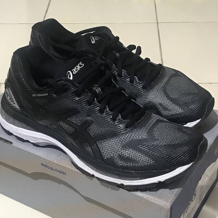 Sepatu Running.Gym.Volly Asics Gel Kayano 24 Black white Murah ... f311826ceb
