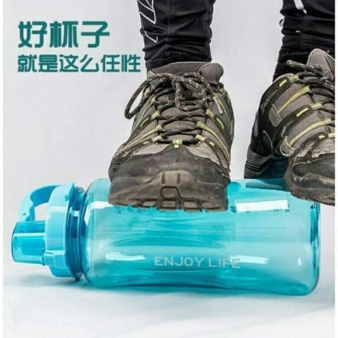 STRAW BOTTLE - Botol Minum JUMBO BESAR - 2 Liter Botol Minum