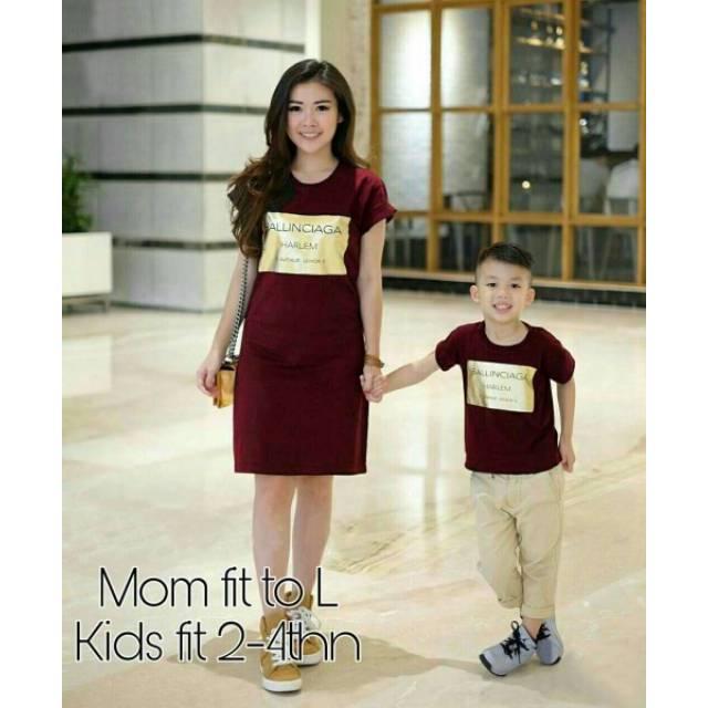 a087b9cb24 DRESS NATAL COUPLE MOM AND KID BRUKAT MERAH couple merah red sincia imlek  ibu dan anak | Shopee Indonesia