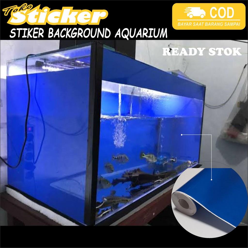 stiker skotlet background aquarium warna biru