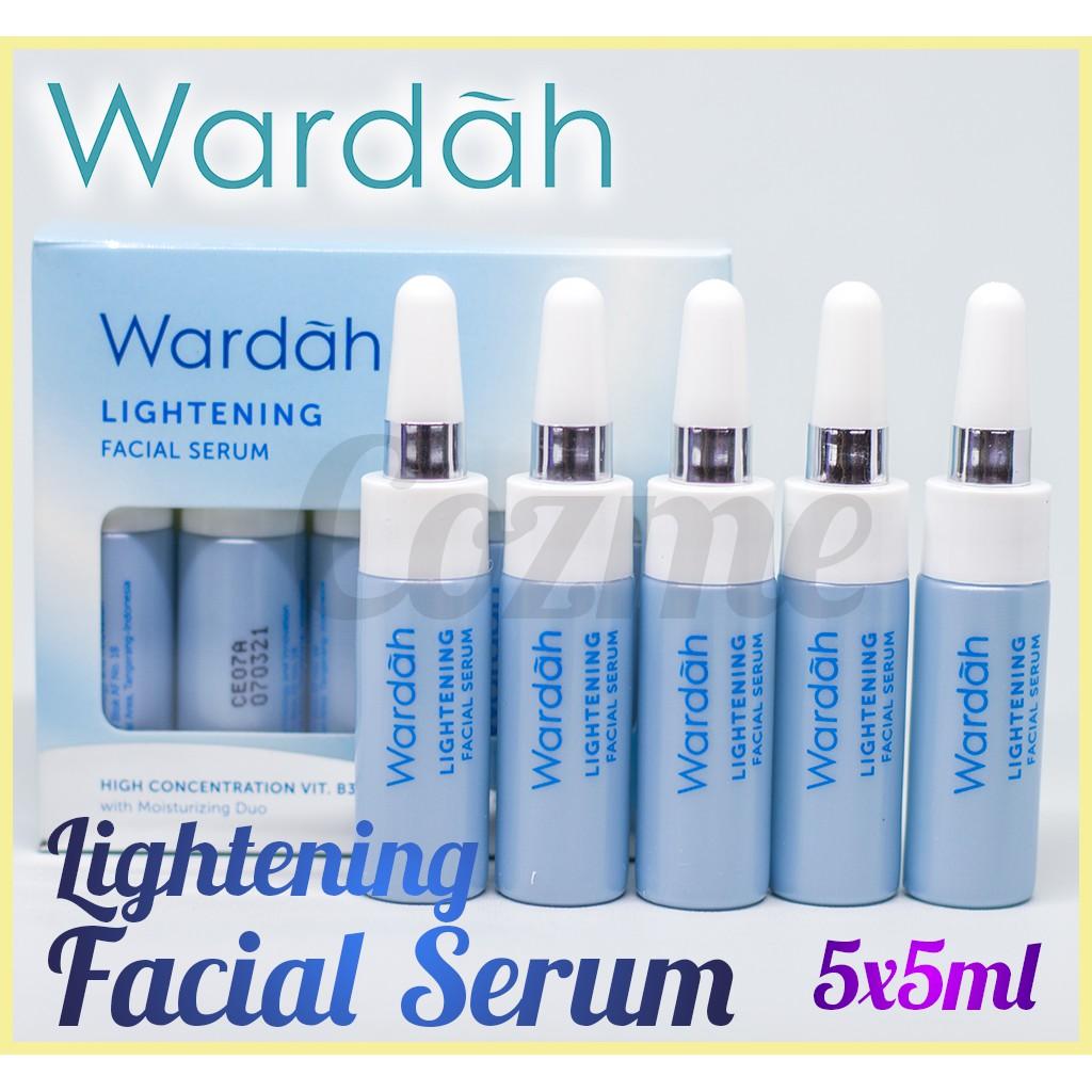 Wardah Lightening Serum Ampoule 5x5ml Shopee Indonesia