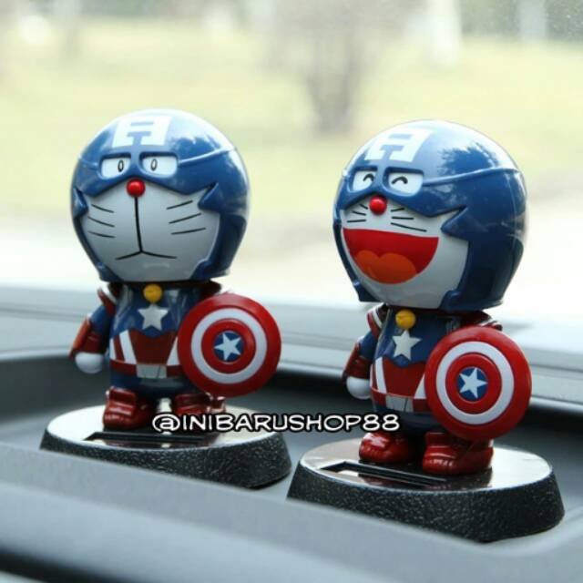 Promo!! Boneka Hiasan Dashboard Mobil Iron Man Doraemon Captain ... 9619d4bb64