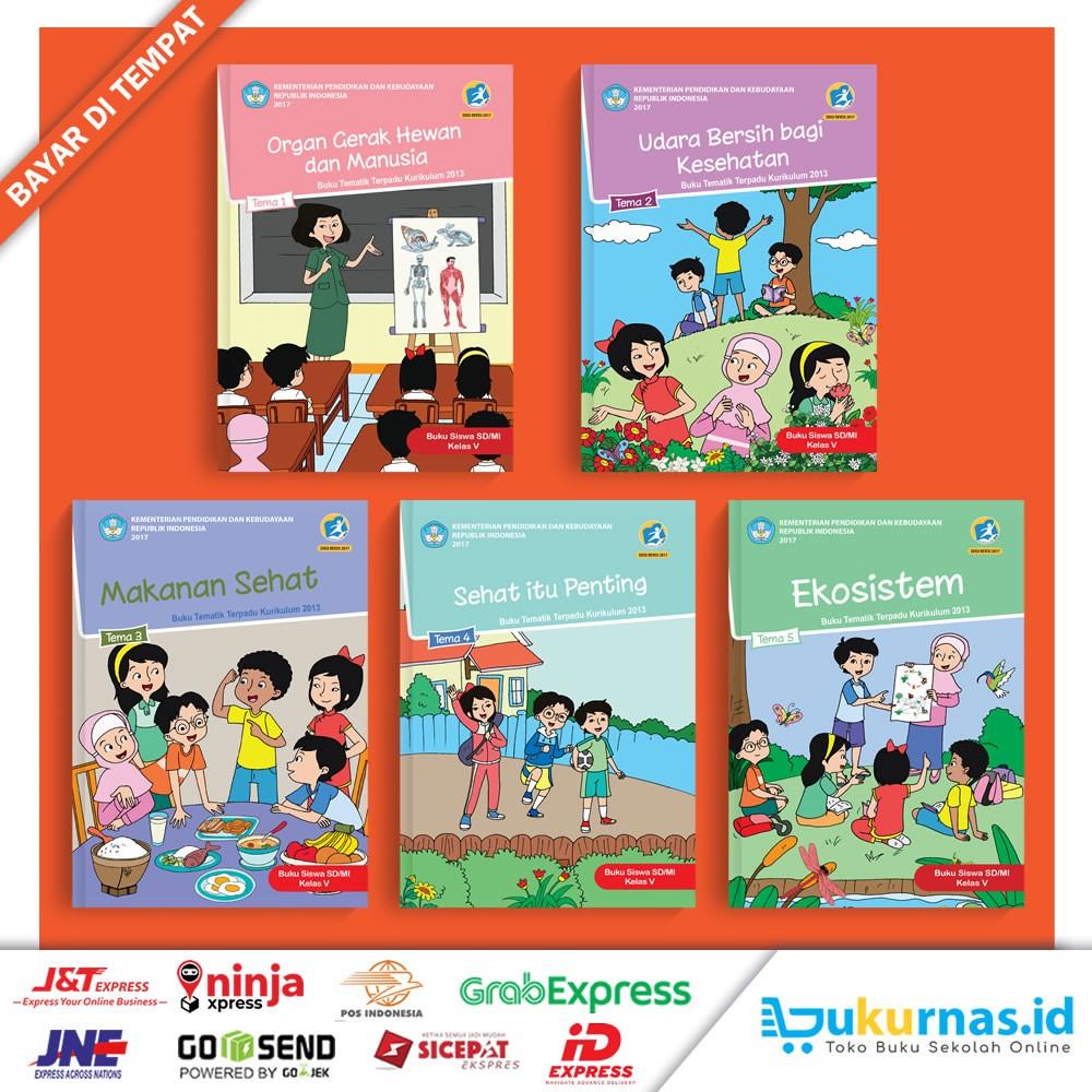 Paket Buku Tematik Sd Kelas 5 Semester 1 Kurikulum 2013 Terbaru 1 Paket 5 Buku Shopee Indonesia