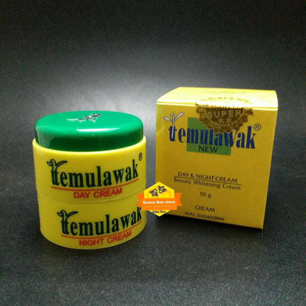 Logo Timbul Tutup Pot Cream Temulawak Emboss Day And Night Krim Kuning Original Holo Emas Super Kemasan Bling Shopee Indonesia
