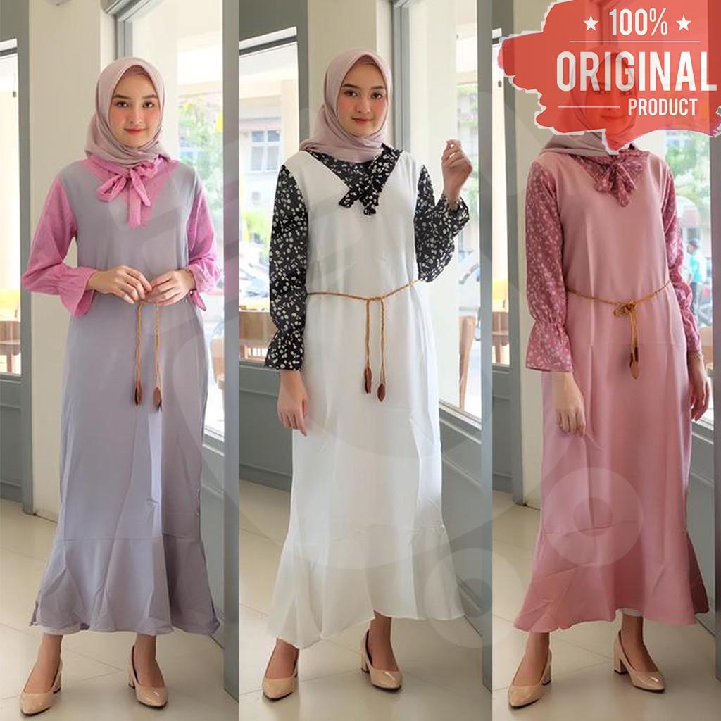 Gamis Dress Wanita Minimalis Trendy Keren Murah - SAR VM