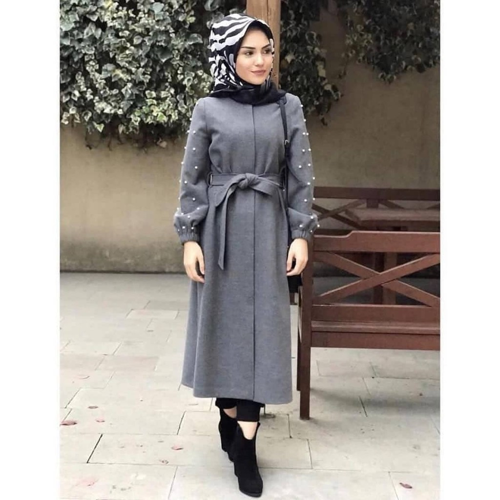 Outer Bohemian Shopee Indonesia Yoenik Apparel Alicha Black M13207 R38s4