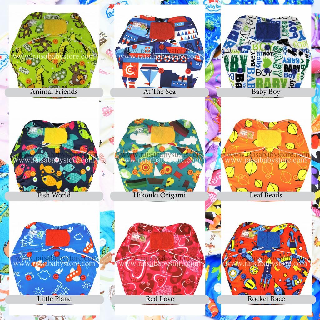 Clodi Popok Kain Bayi Little Hippo Easyfit Orange Tipe Perekat Cloth Minikinizz Izzy Eco Diaper Grosir  Motif 6 Shopee Indonesia