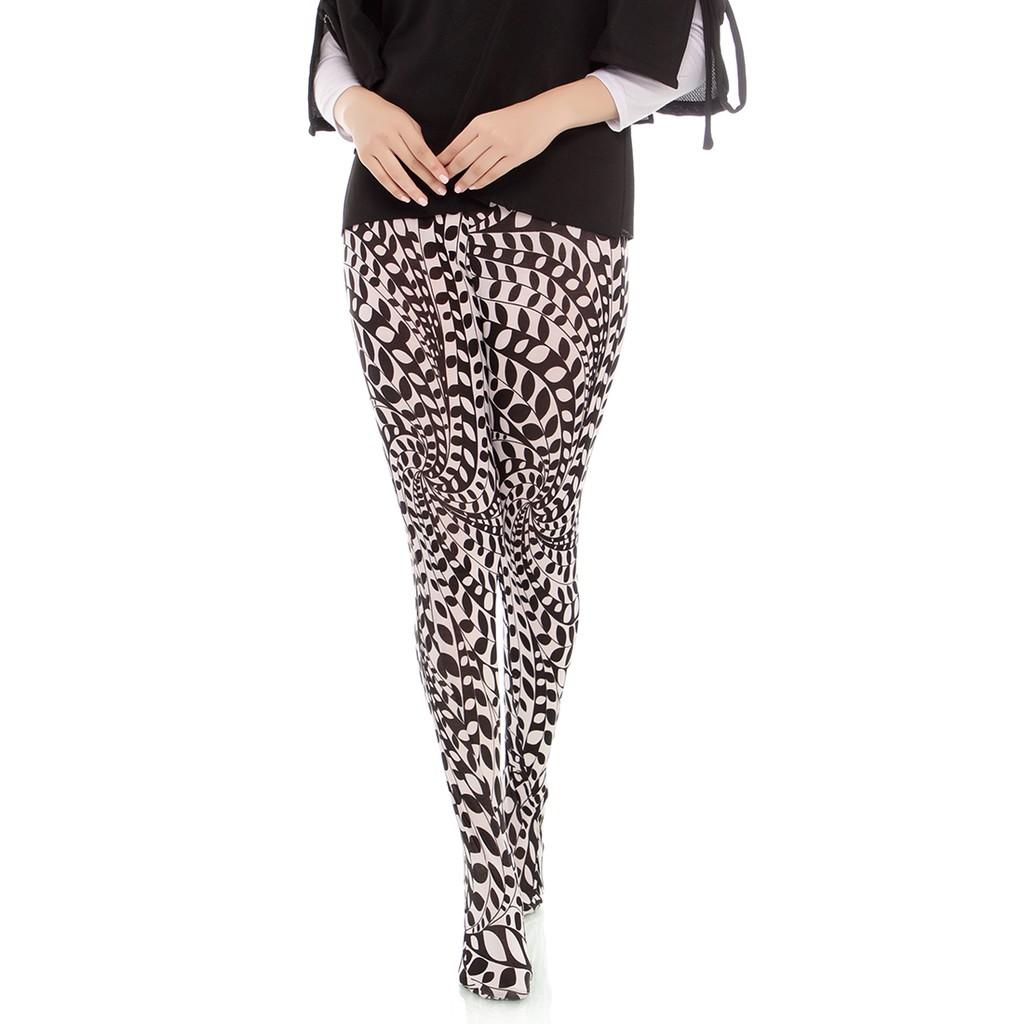 Hopylovy Legging Wudhu Bahan Jersey Shopee Indonesia Warna Hitam Allsize Spandex Rayon