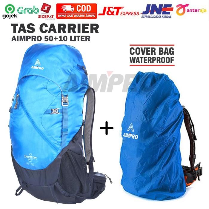 Tas Carrier AIMPRO 50+10 Liter  + Coverbag Waterproof - Tas Keril - Tas CARRIER - TAS GUNUNG