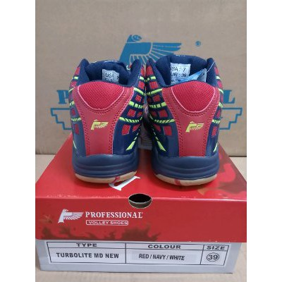 Unik Sepatu Volley Voli Professional Turbolite MD New Red Navy White  Limited  ce4f1a6388