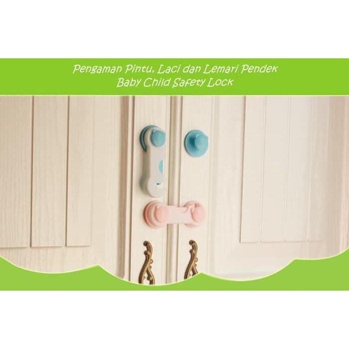 BABY SAFETY LOCK - PENGAMAN FURNITURE - MODEL PENDEK - Biru   Shopee Indonesia