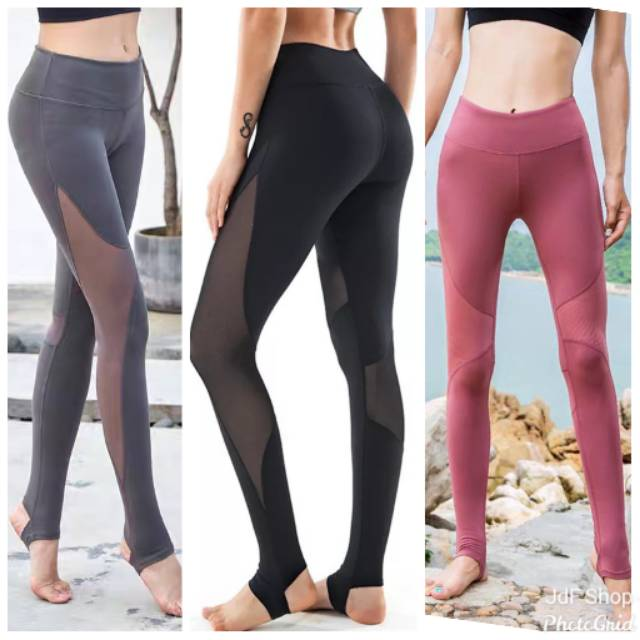 Jdf Shop T866 Step Up Mesh Legging Celana Panjang Olah Raga Injak Shopee Indonesia