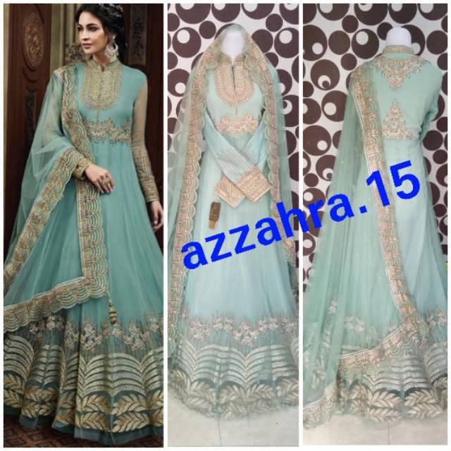Anarkali India Baju India Gaun India Baju Muslim India Shopee Indonesia