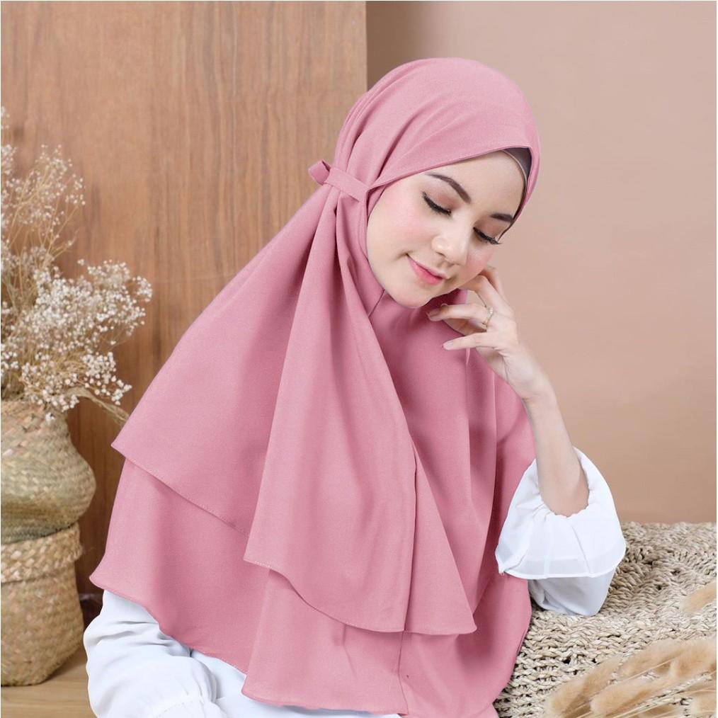 Jilbab Instan Khimar Bergo Instan 2 Layer Hijab Instan Khimar Instan Bergo Bella Shopee Indonesia