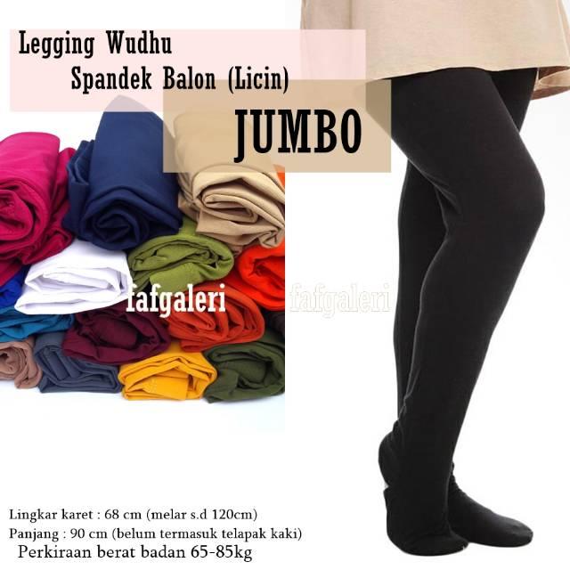 Legging Wudhu All Size Jumbo Bahan Spandek Licin Celana Wanita Shopee Indonesia