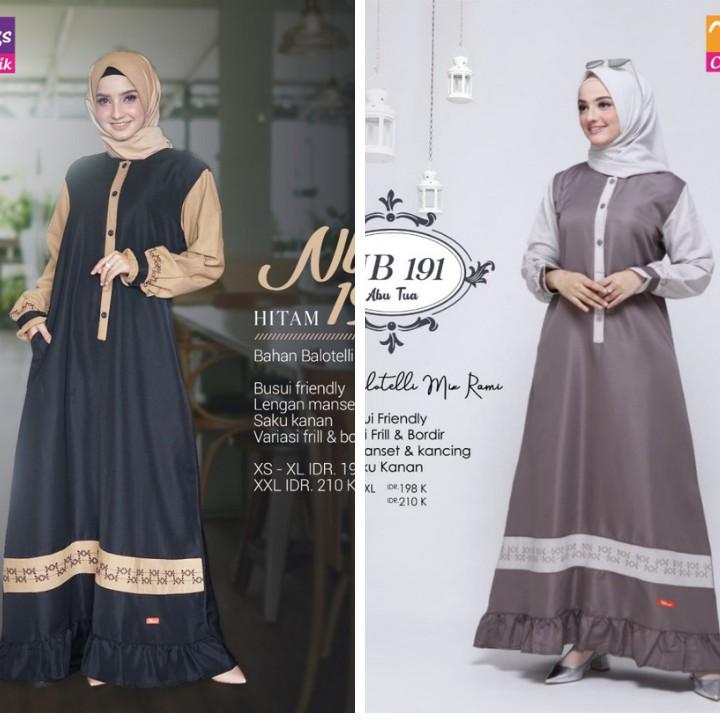 Gamis Nibras Terbaru Koleksi 2019 Nb 191 Shopee Indonesia