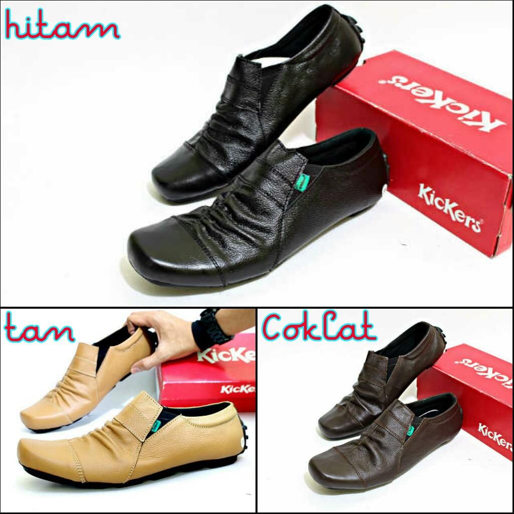 Sepatu kickers Slip On Casual Vintage Pria  378df6cb3f