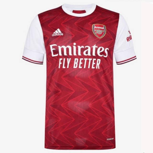 Jersey Bola Terbaru Arsenal Home Away 2020 2021 Shopee Indonesia