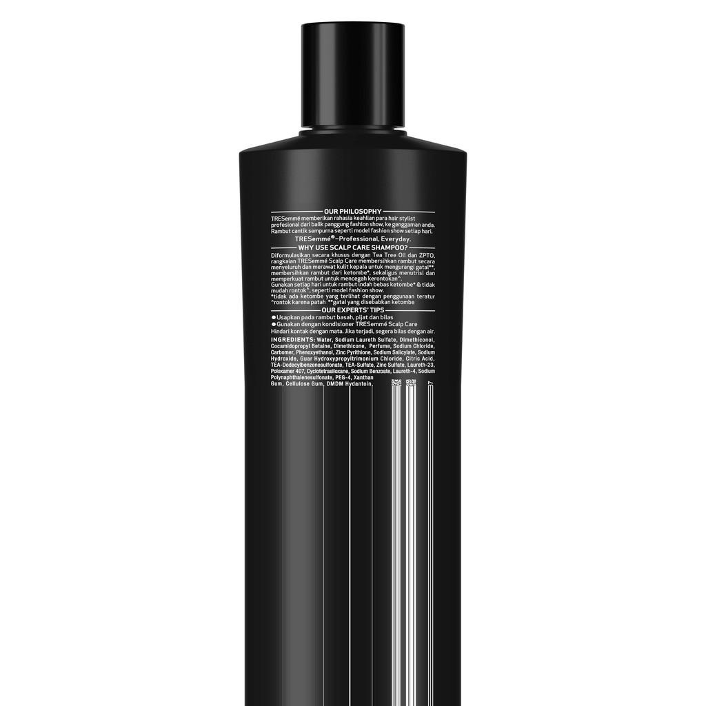 Tresemme Shampo Rambut Scalp Care Tea Tree Oil And Zypto 170ml Lawan Bakteri-2