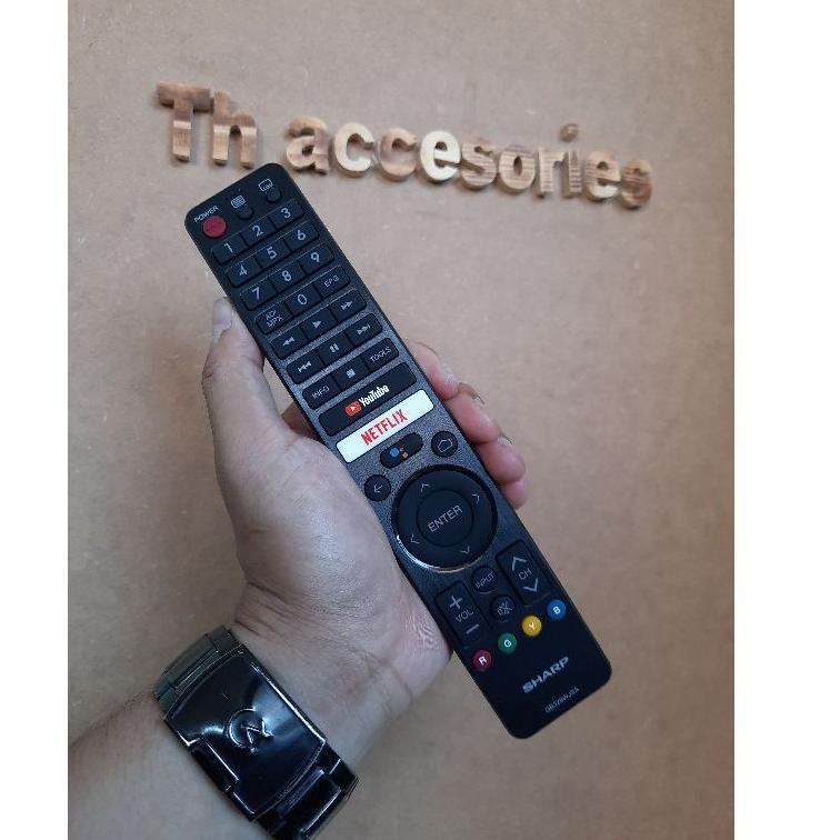 Remote tv sharp Netflix android tv original GB326WJSA (KODE 7)