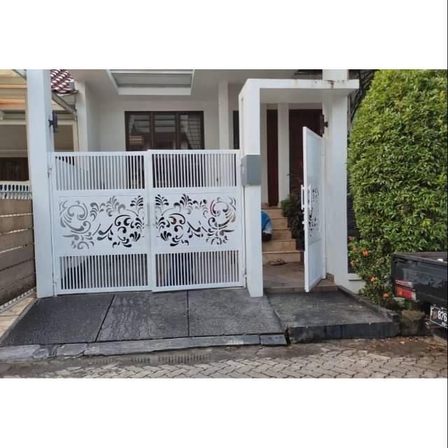 Pagar Rumah Minimalis/pintu Gerbang | Shopee Indonesia
