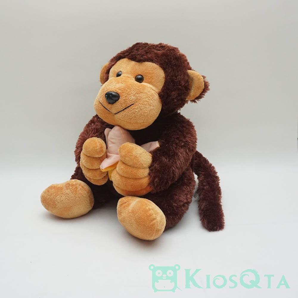 Gambar Monyet Bawa Pisang Boneka Monyet Bawa Pisang Coklat Tua Large Shopee Indonesia