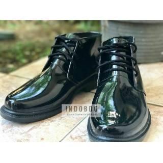 Sepatu PDH T3 Mengkilap Model Jatah Dinas TNI Polri Security Kilat Tanpa  Semir 84ffab437d