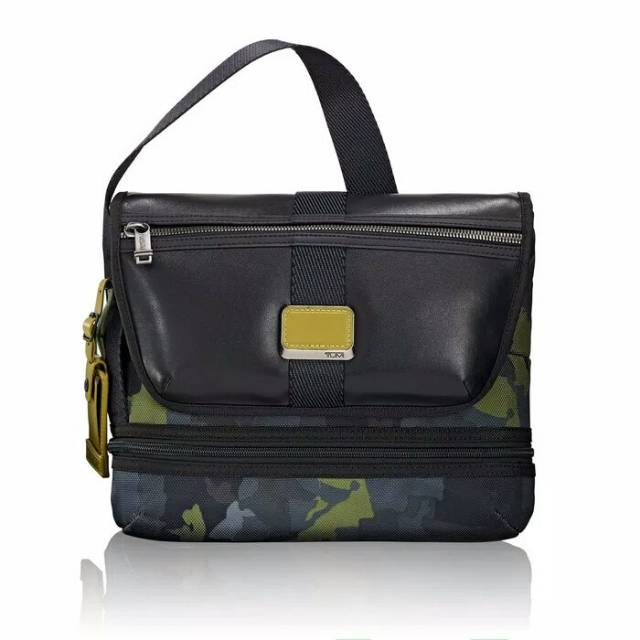 TUMI Travis Camo Green Crossbody tas selempang cowok import