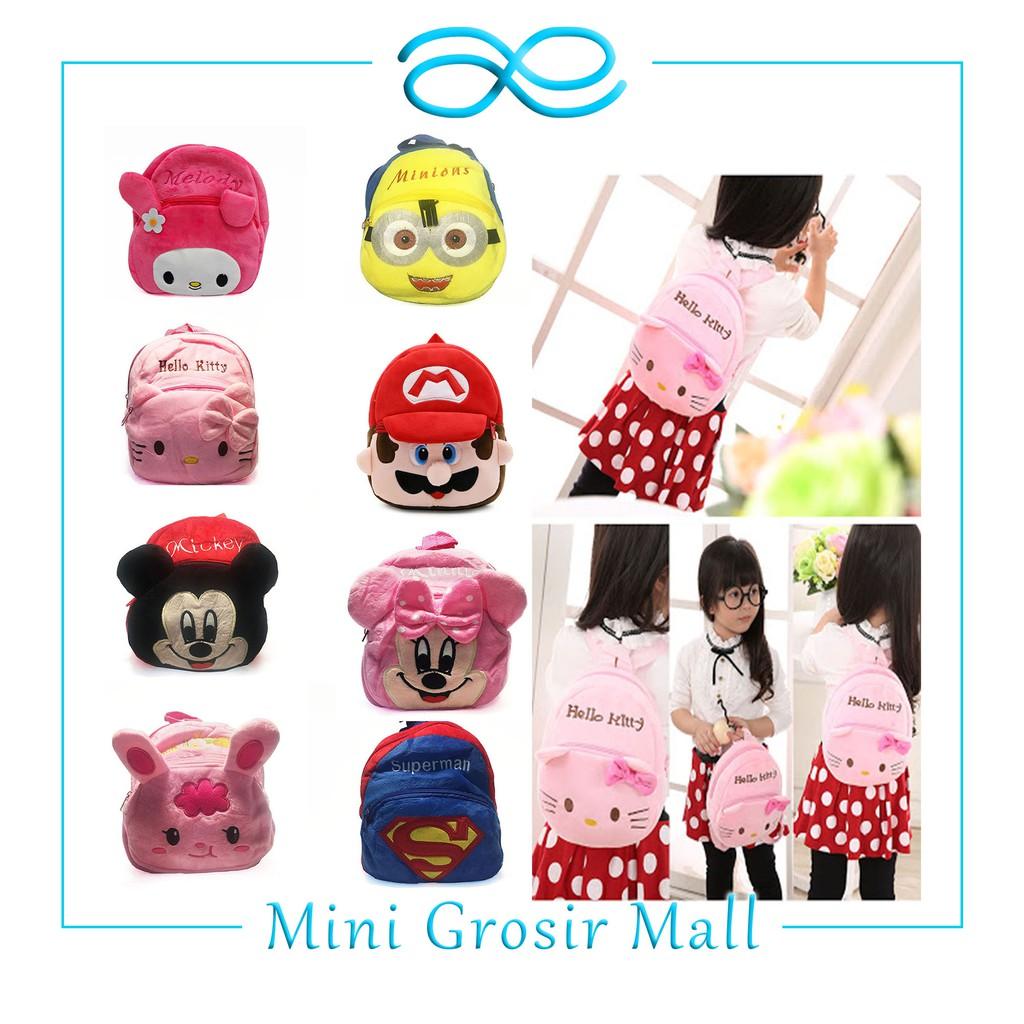 MGM13 23 READY 50 Variasi Tas Anak Ransel kecil Sekolah Anak TK Karakter backpack murah lucu import