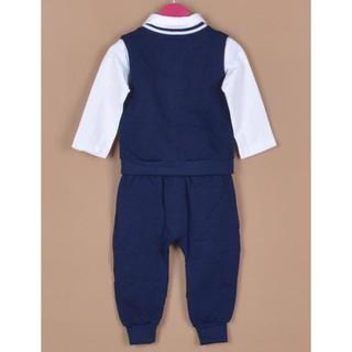 Produk Anak Terlaris Baju Setelan Laki Cowok Import Kaos Kerah Putih Vest Sweater Biru Gratis