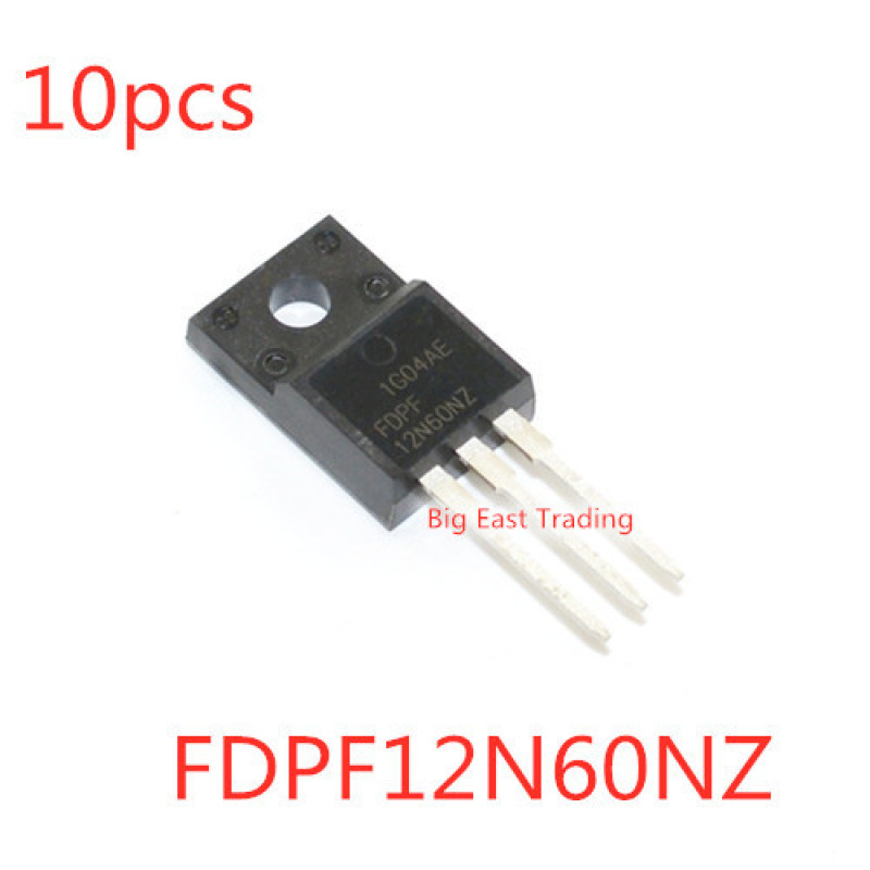 10pcs Fdpf12N60Nz 12n60nz 12a / 600v To-220F
