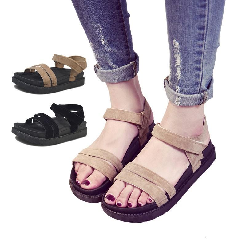 Fashion Wanita Sandal Flat Model Roman Untuk Ke Pantai Shopee Indonesia