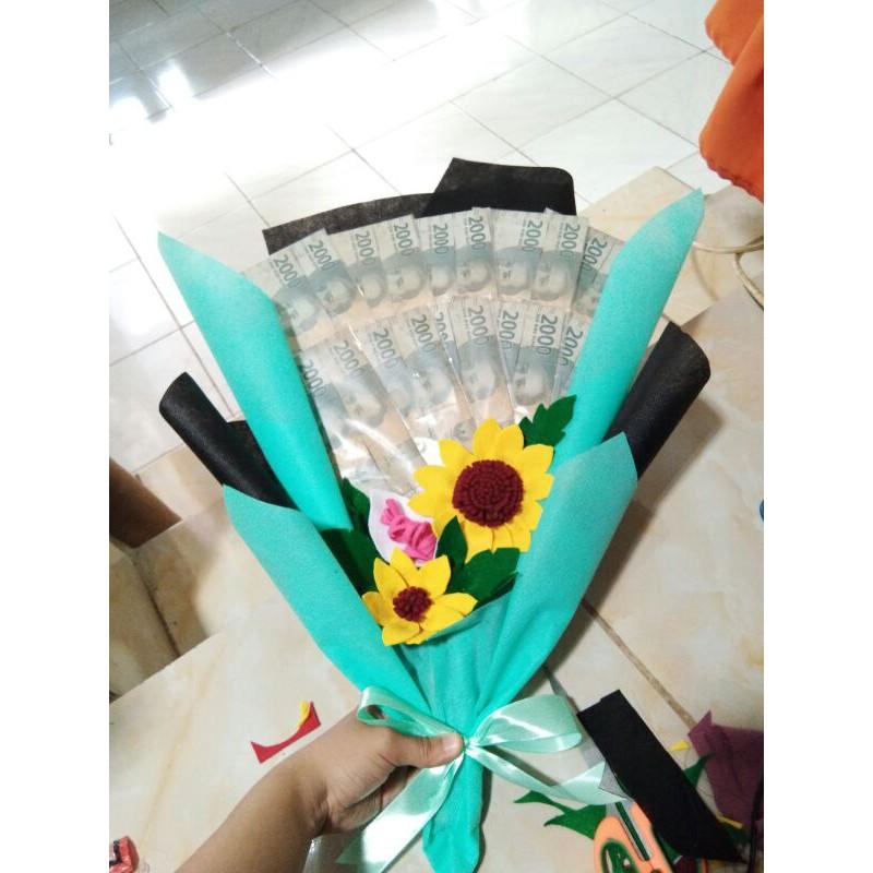 Buket Uang/duit ASLI , buket bunga, Gift wisuda