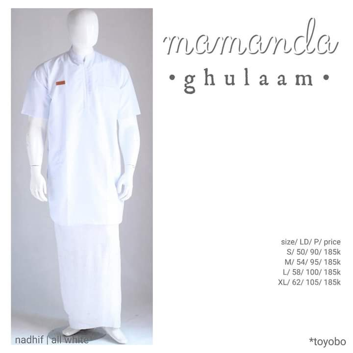 Kurta Remaja/Dewasa All White Ghulam Nadhif by Mamanda