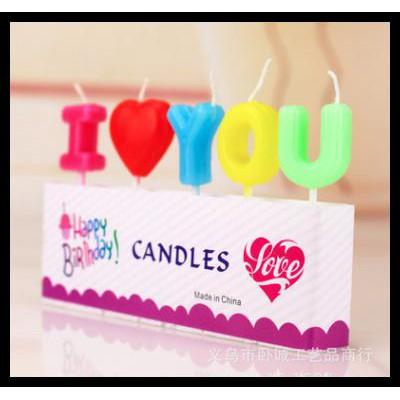 Promo iDetik Mall lilin karakter kue ulang tahun i love you cinta valentine QR0609