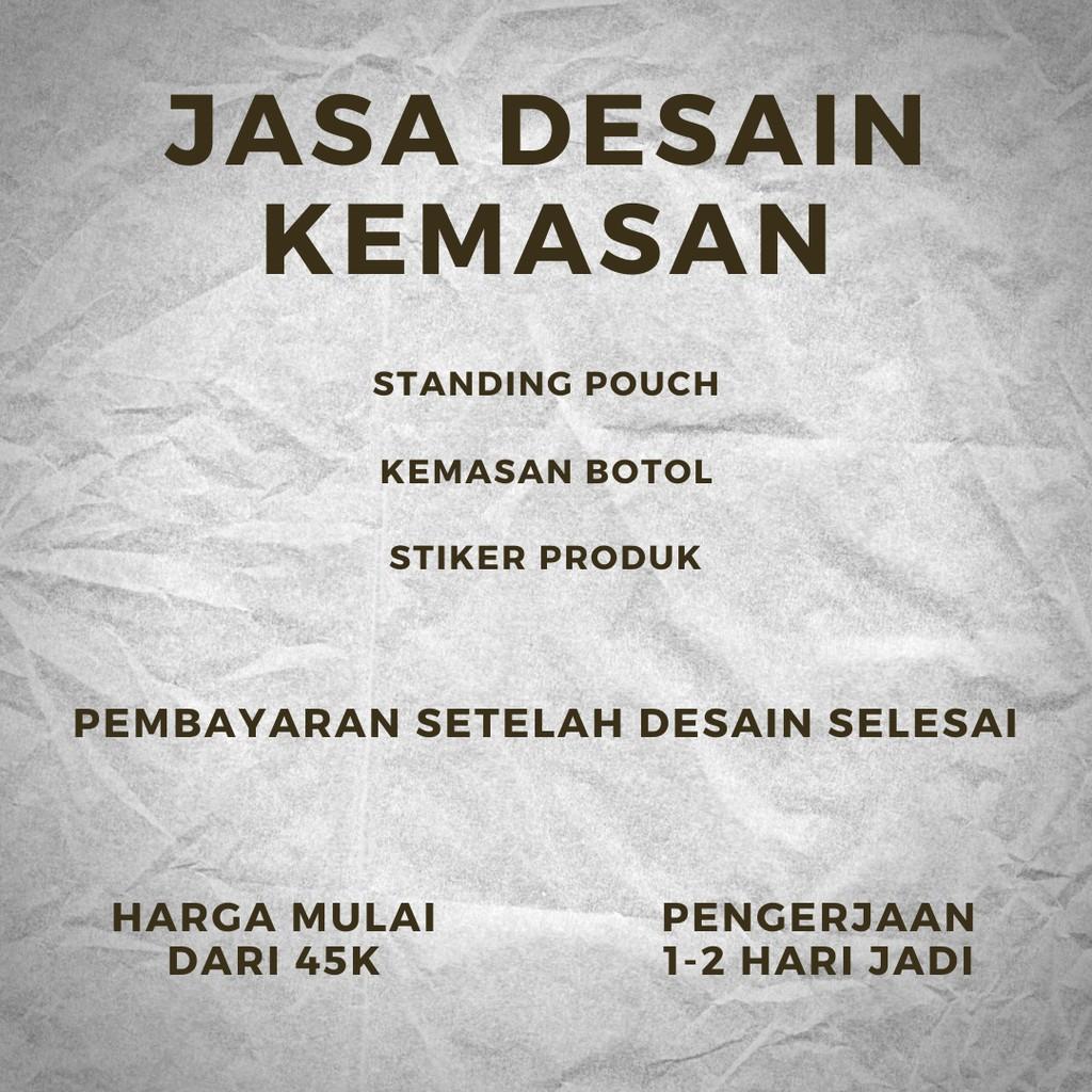 Jasa Desain Kemasan - Standing Pouch - Kemasan Botol - Stiker produk